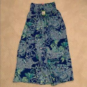 Lilly Pulitzer maxi skirt NWT XS Bohdi blue siren